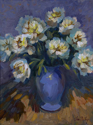 Painting - White Peonies by Diane McClary