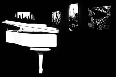 White Piano Art Print by Benjamin Yeager