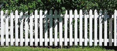 Photograph - White Picket Fence 6 by The Art of Marsha Charlebois