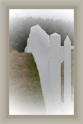 Photograph - White Picket Fence by Marie Jamieson