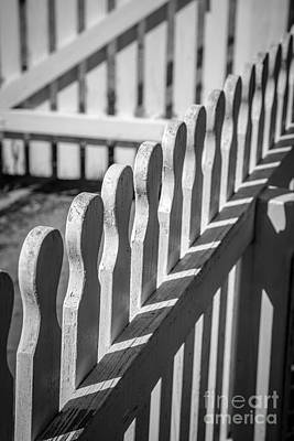 White Picket Fence Portsmouth Art Print by Edward Fielding