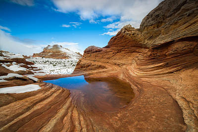 Ocean. Reflection Photograph - White Pocket Utah 2 by Larry Marshall