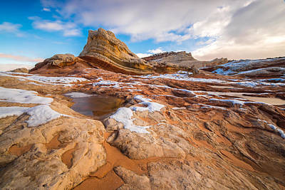Western Sky Photograph - White Pocket Utah 3 by Larry Marshall