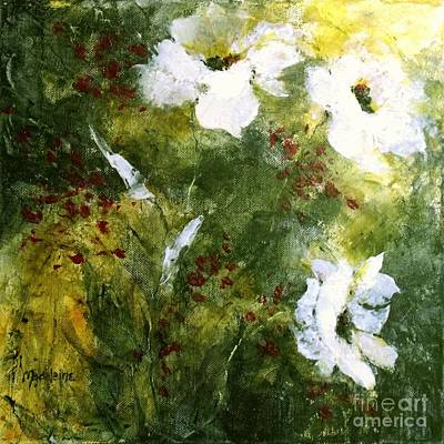 Painting - White Poppies IIl by Madeleine Holzberg