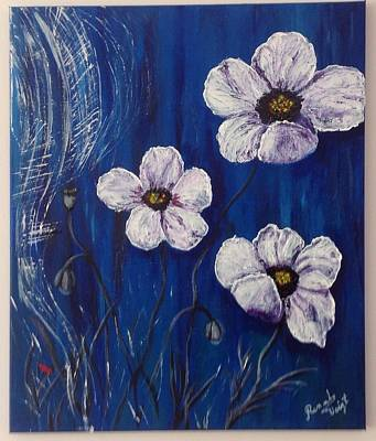 Painting - White Poppies  by Renate Voigt