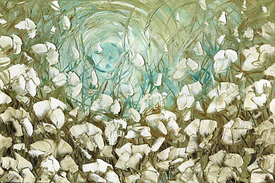 Brown Painting - White Poppies by Susanna Shap