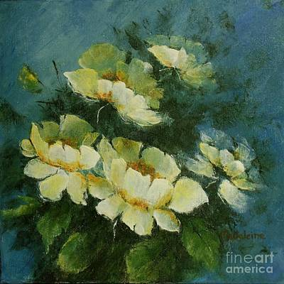 Painting - White Poppies V by Madeleine Holzberg