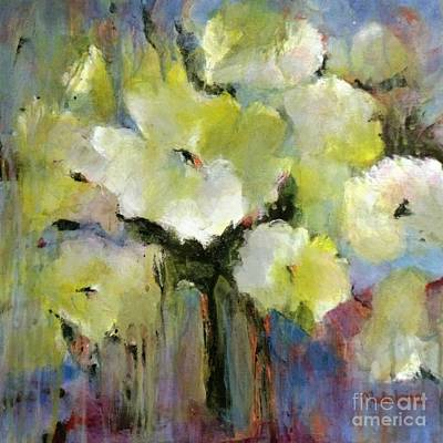 Painting - White Poppy Bouquet by Madeleine Holzberg