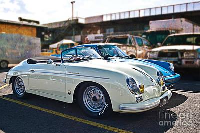 Photograph - White Porsche 356 by Stuart Row