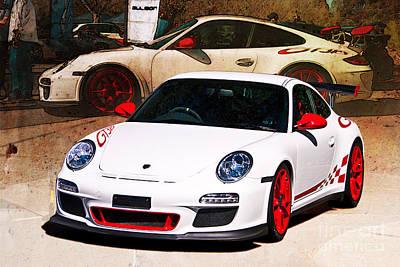 Photograph - White Porsche Gt3rs by Stuart Row