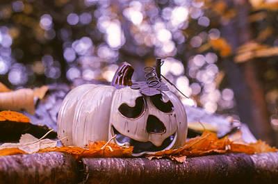 White Pumpkin Art Print by Aaron Aldrich