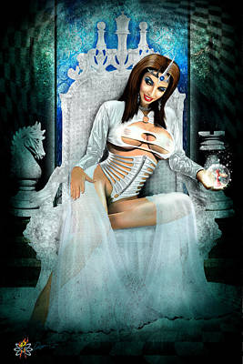Digital Art - White Queen by Doug Schramm