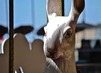 Photograph - White Rabbit by Bill Owen