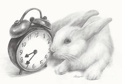 White Rabbit Still Life Art Print