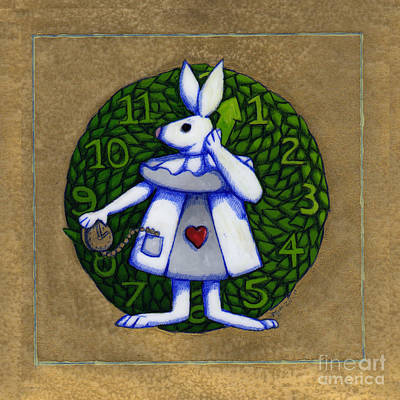 Art Print featuring the mixed media White Rabbit Wonderland by Donna Huntriss