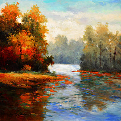 Painting - White River by Kanayo Ede