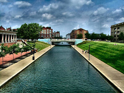 White River Park Canal In Indy Art Print by Julie Dant