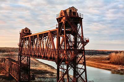 Desserted Photograph - White River Railroad Bridge by JC Findley