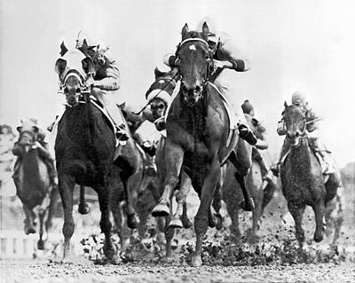 Horse Racing Photograph - White River With Jockey Tommy Barrow by Underwood Archives