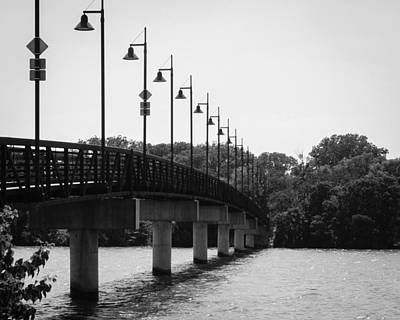 Iconic Lamp Design Photograph - White Rock Bridge by Jeff Mize