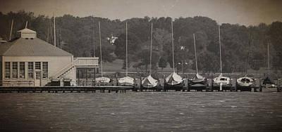 Dry Lake Racing Photograph - White Rock Dock by Jeff Mize