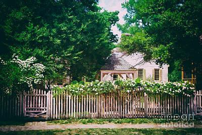 Painting - White Rose Garden by Shari Nees
