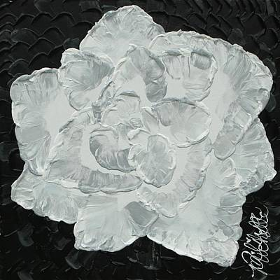 Painting - White Rose I by Aliya Michelle