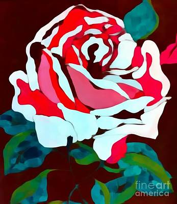 Painting - White Rose Impression by Saundra Myles