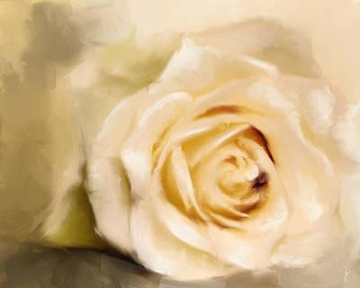 Painting - White Rose by Jai Johnson