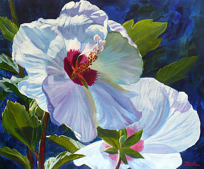 Painting - White Rose Of Sharon by Janet  Zeh