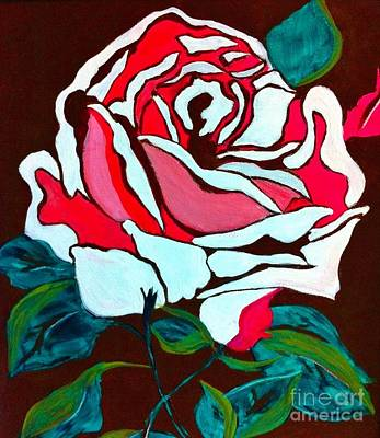 Painting - White Rose by Saundra Myles