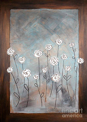 Painting - White Roses by Home Art
