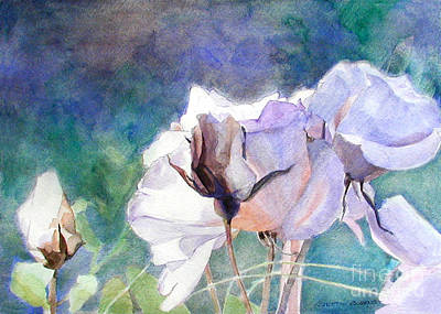 Painting - White Roses In The Shade by Greta Corens