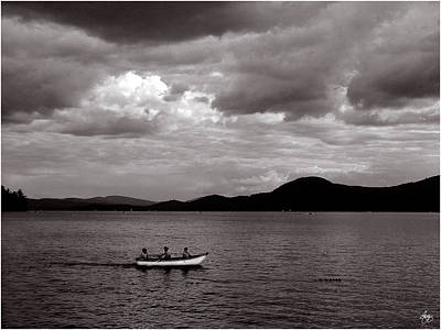 Photograph - White Rowboat Under A Stormy Sky by Wayne King