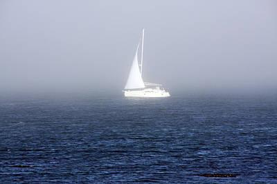 Photograph - White Sailboat In Dublin Bay by Aidan Moran