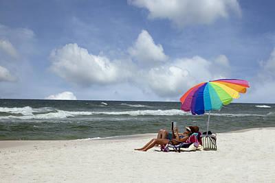 Photograph - White Sand Beach On The Gulf Coast Of Alabama by Carol M Highsmith