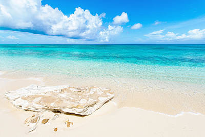 Caribbean Photograph - White Sand by Chad Dutson