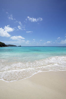 Mustique Photograph - White Sand Island Beach With Crystal by Chris Caldicott