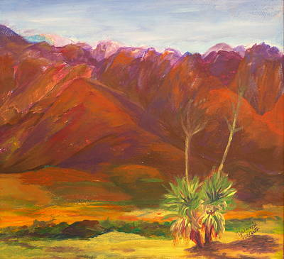 Las Cruces Painting - White Sand Mount by Yolanda DeCosta