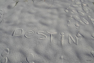 White Sand Of Destin 002 Art Print by George Bostian
