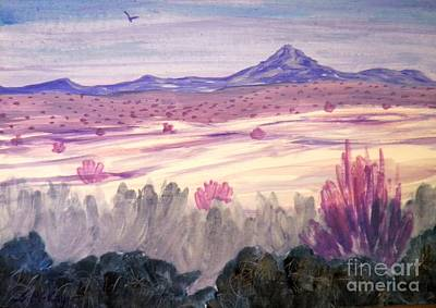 Painting - White Sand Purple Hills by Suzanne McKay