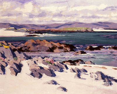 Early Painting - White Sands   Iona  by Francis Campbell Boileau Cadell