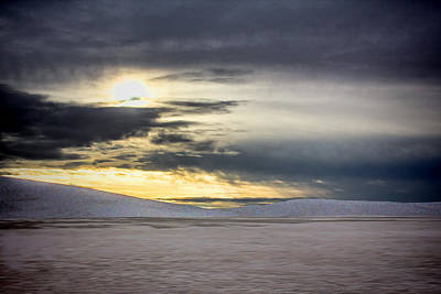 Digital Art - White Sands Approaching Storm by Georgianne Giese