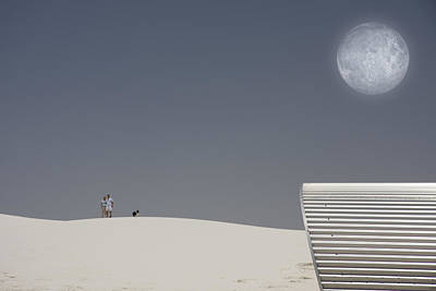 White Sands Moonrise Art Print by Bruce Rolff
