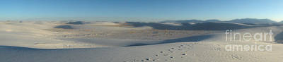 White Sands New Mexico Panorama 02 Art Print by Gregory Dyer