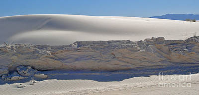 Photograph - White Sands New Mexico Sand Dune Crumble by Gregory Dyer
