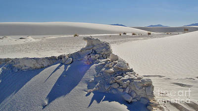 Photograph - White Sands New Mexico Sand Rift by Gregory Dyer