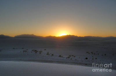 Photograph - White Sands New Mexico Sunset by Gregory Dyer