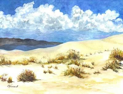 White Sands New Mexico U S A Art Print by Carol Wisniewski