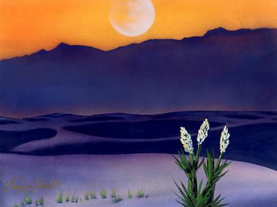 Desert Sunset Painting - White Sands Nm. by Luis  Navarro
